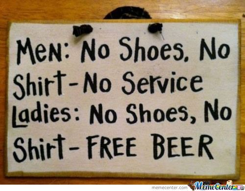 This Sign Should Be At Every Bar