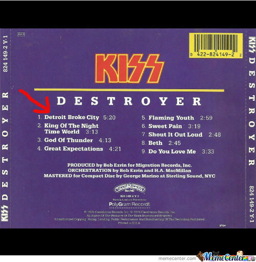This Time With A Red Arrow. Kiss Already Knew It Long Time Ago