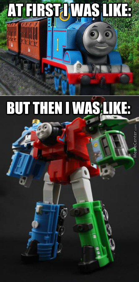 Thomas The Train Joined The Autobots