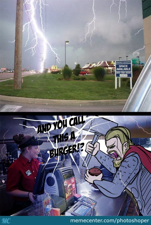 Thor Doens't Like Mcdonalds