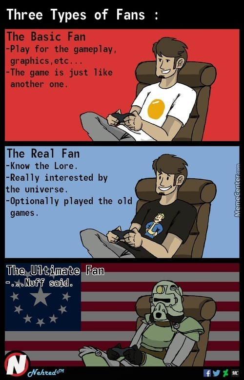 Three Types Of Fans (Works For Every Fandoms, My Opinion In The Comment Section)