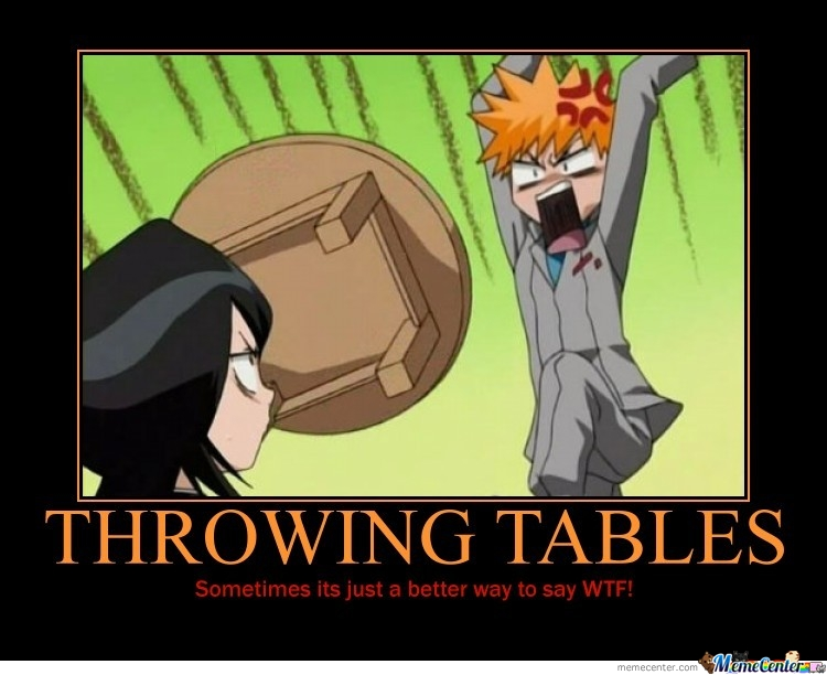 Throwing Tables