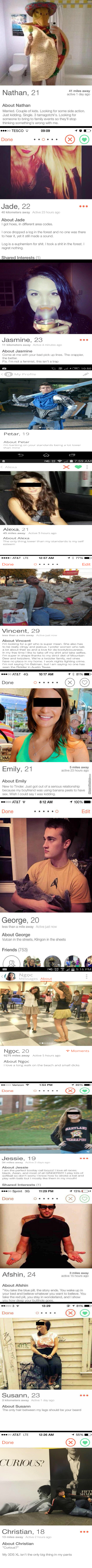 Tinder Being Tinder (It Gets Weirder The More You Scroll)