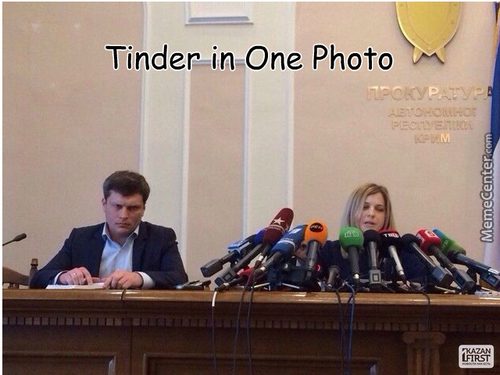 Tinder In One Photo!