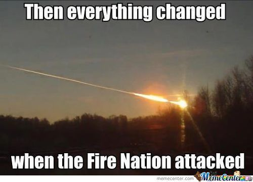 Fire nation attacked Russia