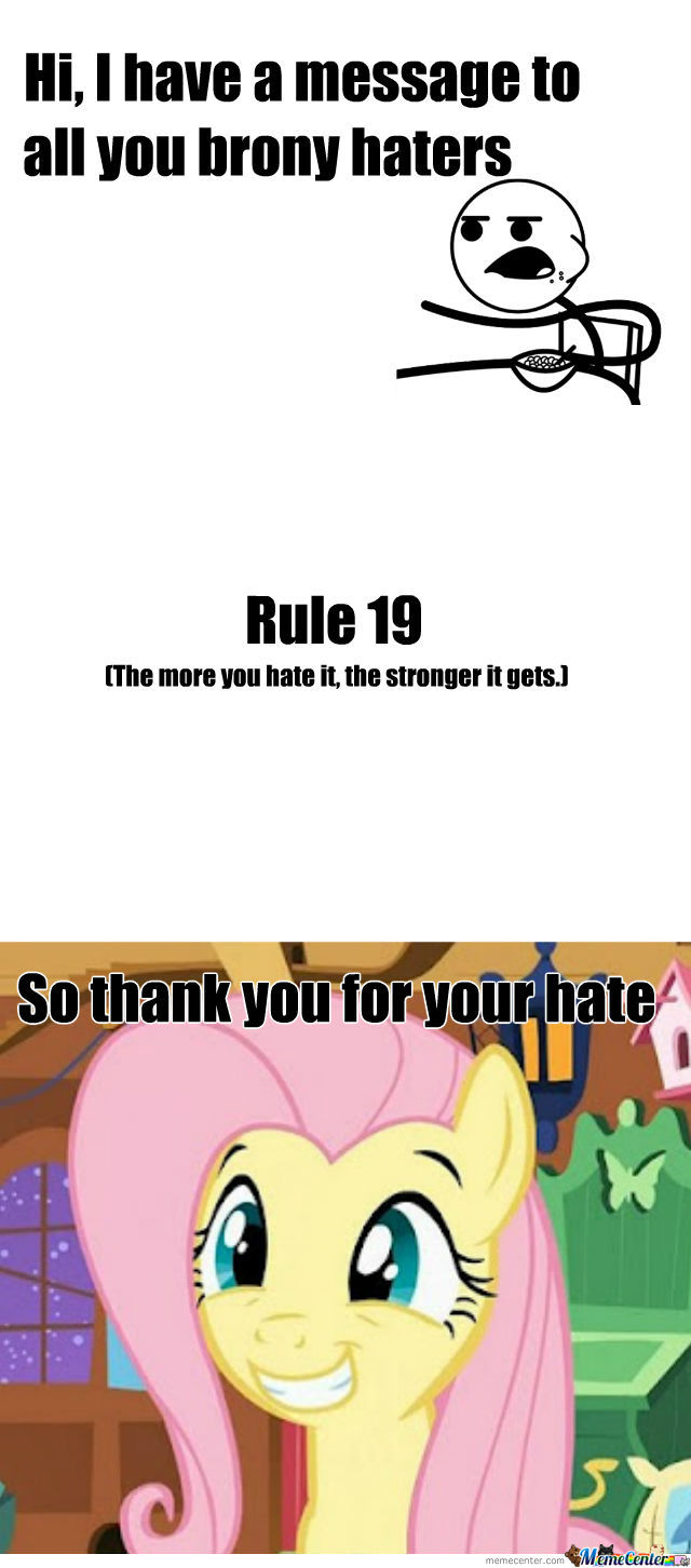 To You Brony Haters
