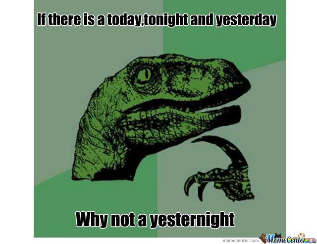 Today Is To Tonight As Yesterday Is To...