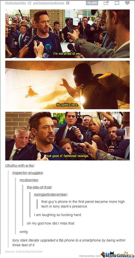 Tony Stark Is Awesome.