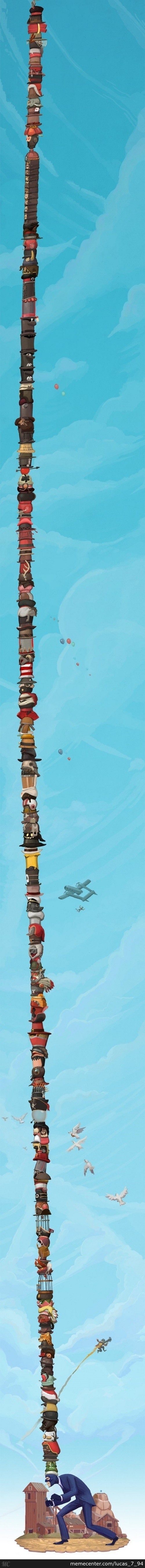Toooooooowwwweeering Pillar Of Hats :d (Tf2)