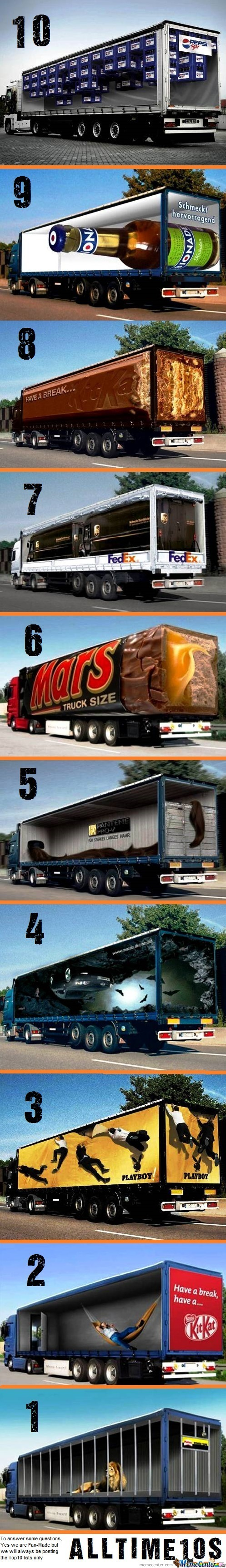 Top10 Cool Examples Of Truck Advertising