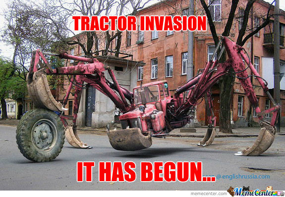 Tractor Invaasion By Johnmcstefa Meme Center