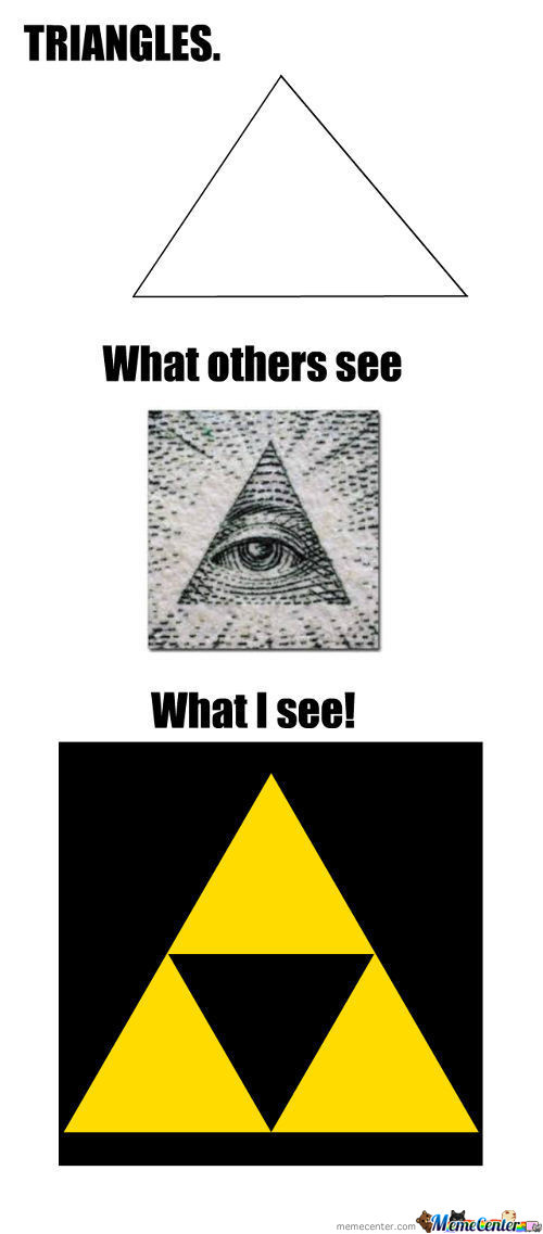 Triangles, What Others See, What I See!