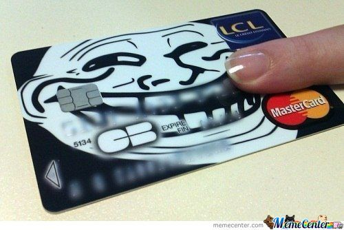 Troll Credit Card