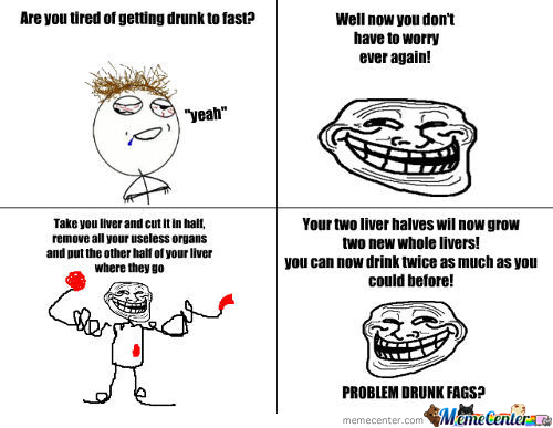 Troll Physics And Drinking
