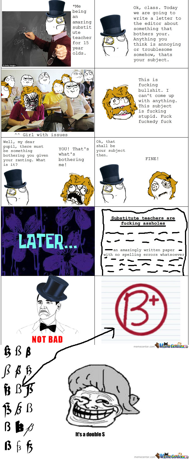 Troll Teacher by EmilTC - Meme Center