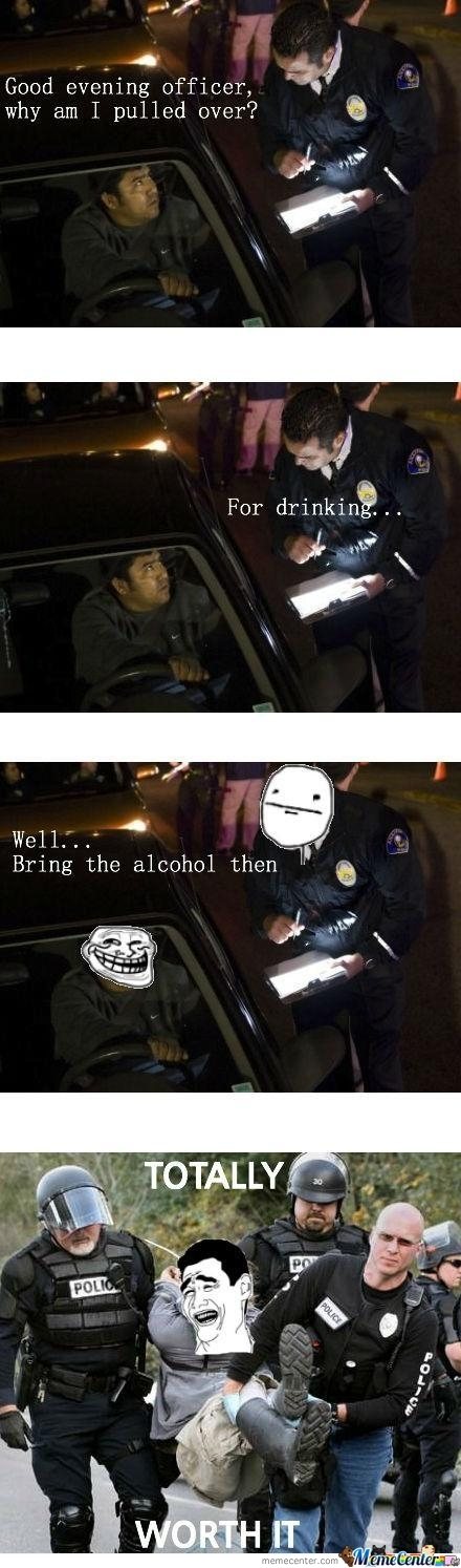 Trolling The Officer