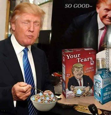 Trump Eating After Waking Up