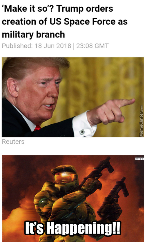 Trump Ensures His Reelection By Vowing To Make Halo Real