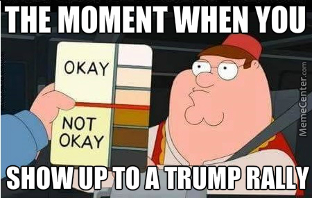 Image result for funny trump rally meme