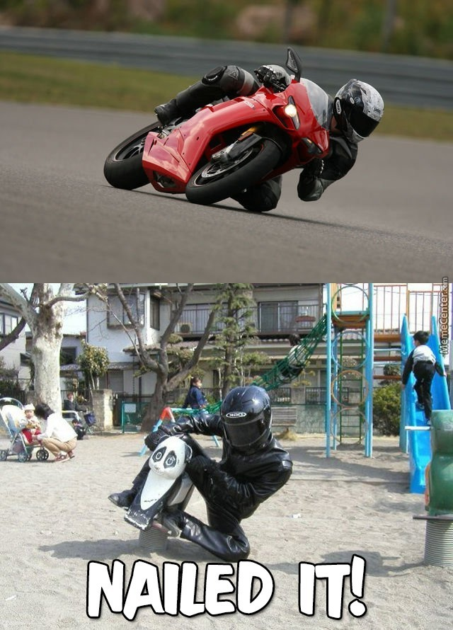 Trying To Be A Cool Motorcyclist, On A Low Budget