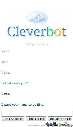 Trying To Play Marco Polo With Cleverbot
