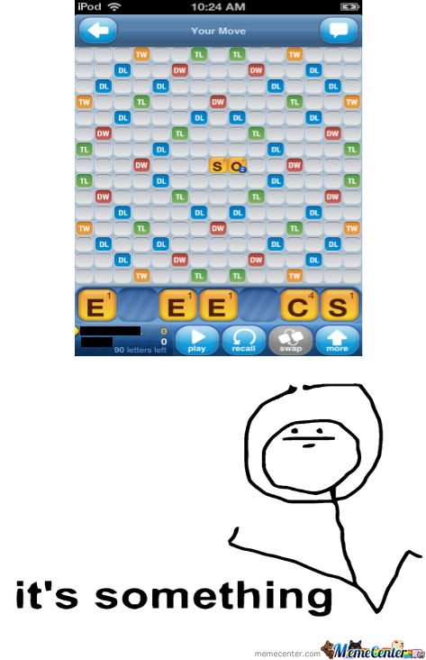 Trying To Play Words With Friends