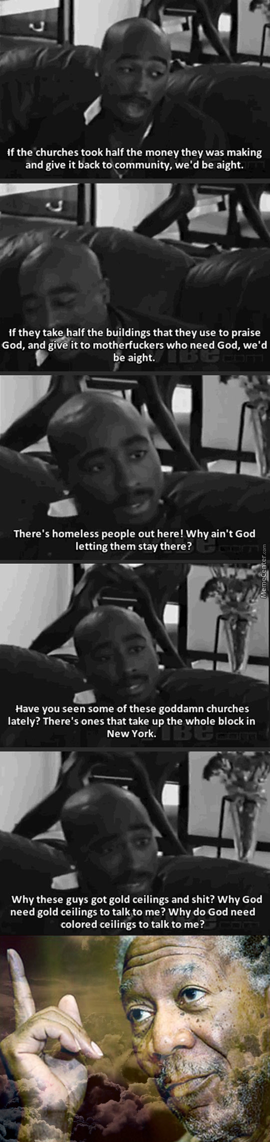 Tupac's View On Religion And Churches
