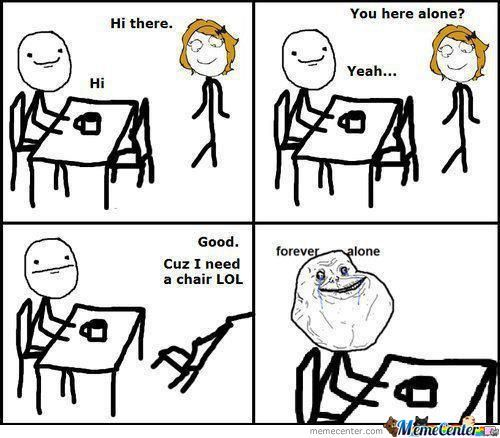 Typical Forever Alone.