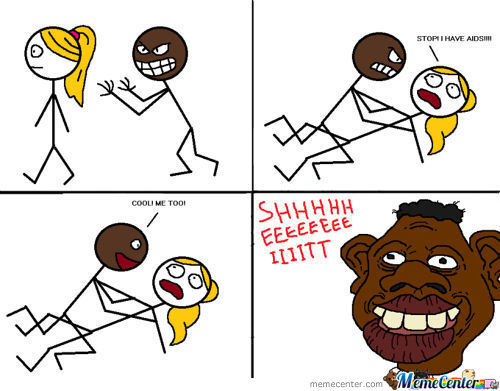 Tyrone Rapes A Blonde