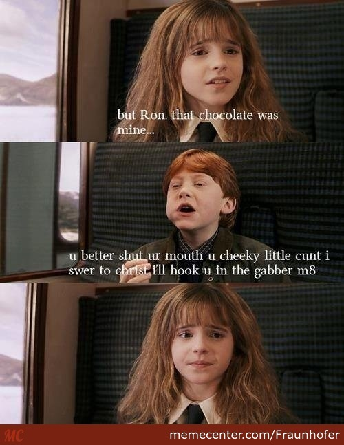But Ron, That Chocolate Was Mine...