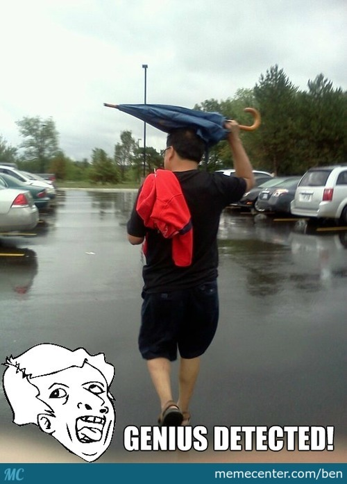 Umbrella, You Are Doing It Wrong
