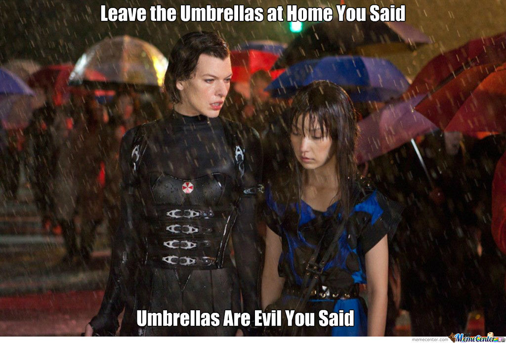 Umbrellas Are Evil