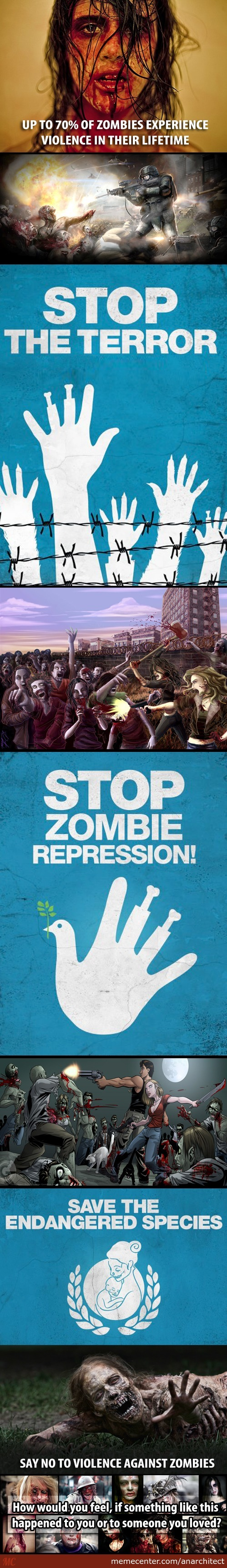 Unite To End Violence Against Zombies