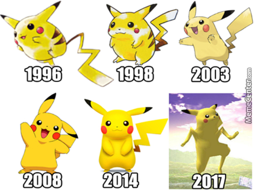 Unrealistic Pikachu Weight Standards Over The Years