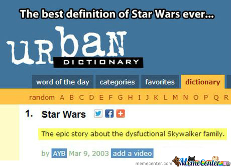 Urban Dictionary On Star Wars...