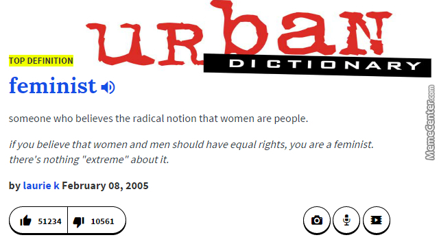 Urban Dictionary, Over 10K Feminazis And People Who Didnt ...