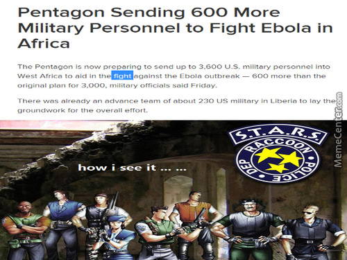 Us Sending The Military To Fight Ebola...
