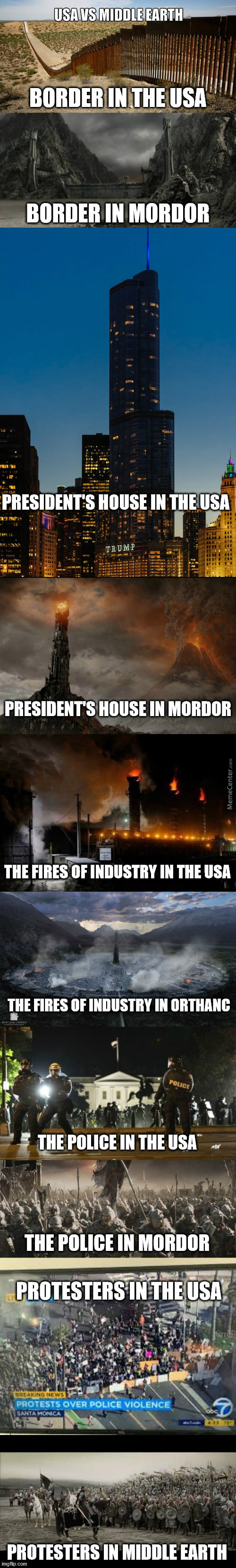 Usa Vs Middle Earth