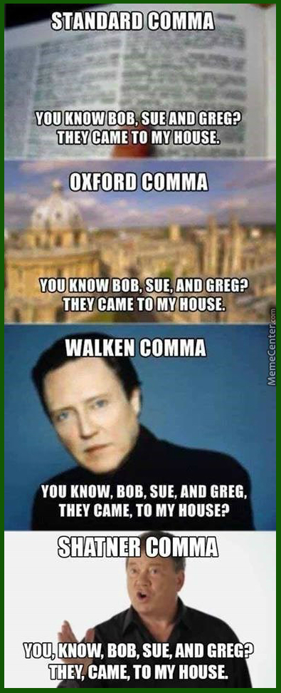 Use Commas, They're Free :)