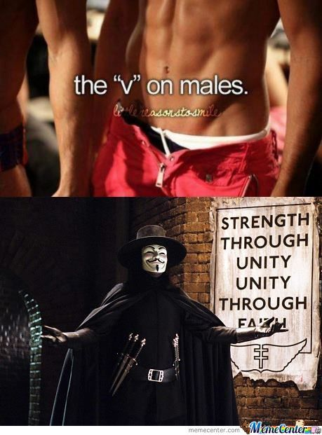 v for vendetta through a post