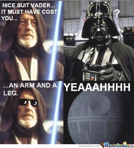 Vader's Suit Cost Wht?