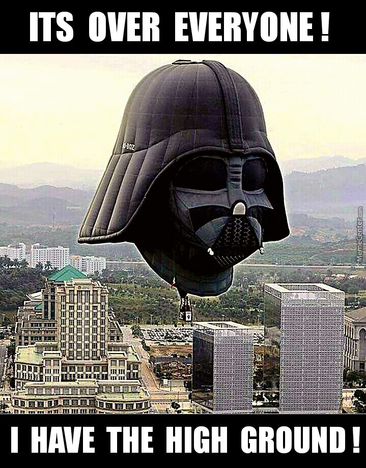 Vader( Finally) Has The High Ground