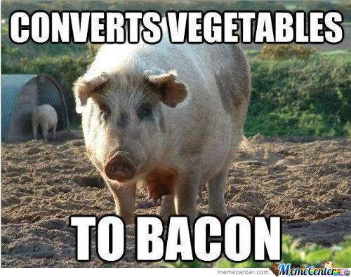 Vagetable To Bacon