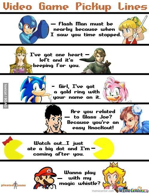 Video Game Pick Up Lines