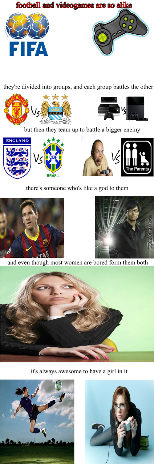 Videogames And Football Are Very Similar