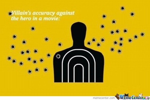 Villain'S Accuracy Against The Hero In A Movie