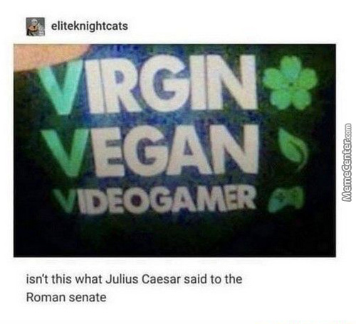 Virgin Vegan V.s Chad Videogamer