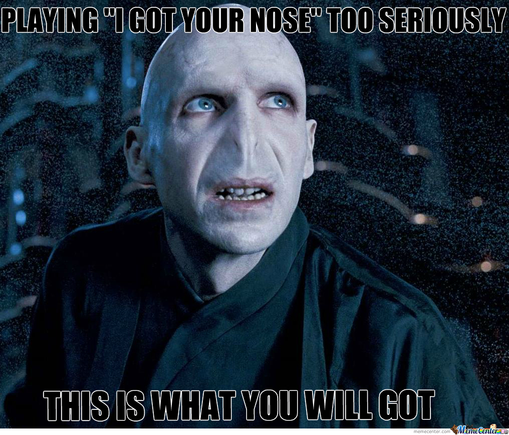 Voldemort S Nose By Lonelywolf N Meme Center