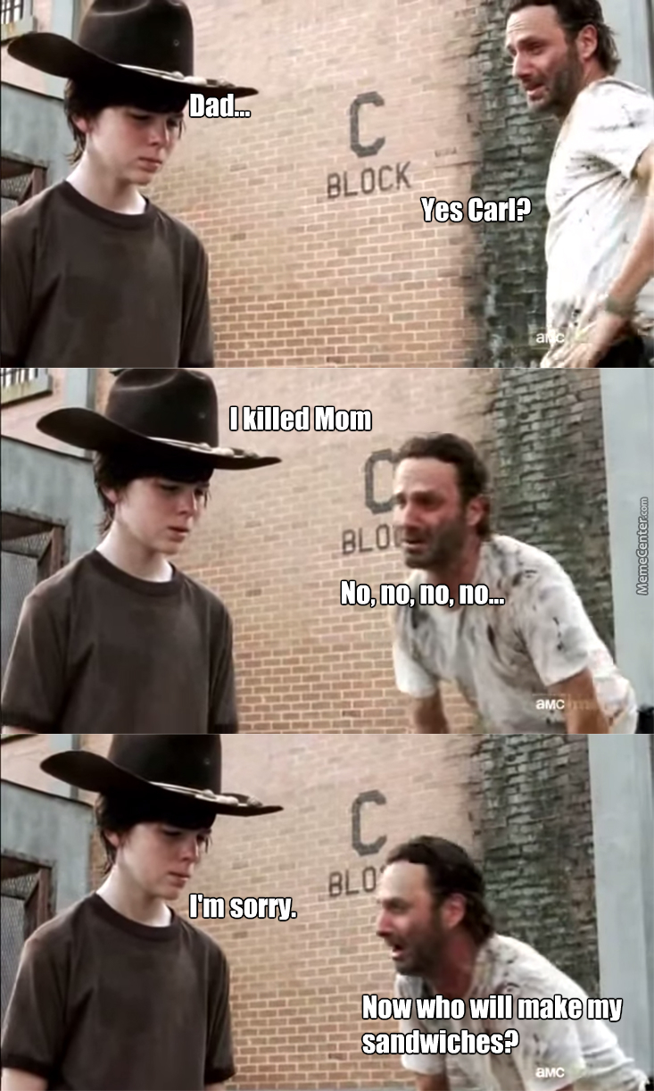 walking dead rick and carl_o_3346123 walking dead rick and carl by smithyy meme center