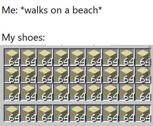 Walking On A Beach Be Like